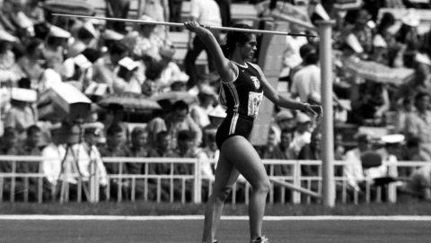 Η Σοφία Σακοράφα σε στιγμιότυπο των Ολυμπιακών Αγώνων 1980, Μόσχα