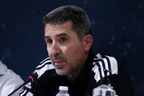 Ο Πρίφτης στη διάρκεια της συνέντευξης Τύπου για το Παύλος Γιαννακόπουλος | 17 Σεπτεμβρίου 2021