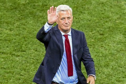 Ο Βλάντιμιρ Πέτκοβιτς στην αναμέτρηση της Γαλλίας με την Ελβετίας στο Βουκουρέστι της Ρουμανίας.