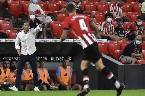 Ο Μαρθελίνο σε ματς της Αθλέτικ Μπιλμπάο στη La Liga κόντρα στην Μπαρτσελόνα στο Σαν Μαμές