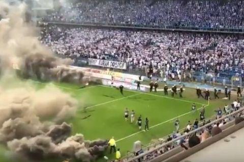 VIDEOS: Χάος στην Πολωνία, διεκόπη το ματς τίτλου