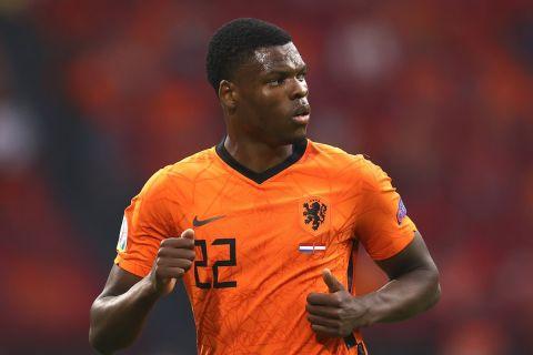 Ο Ντάμφρις στην αναμέτρηση της Ολλανδίας με την Αυστρία για το Euro 2020.