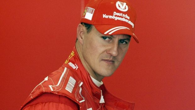 German former Formula One driver and seven-time Formula 1 World Champion Michael Schumacher looks on during a test session at the Montmelo racetrack, near Barcelona, Spain, Wednesday, April 16, 2008. (AP Photo/Manu Fernandez)