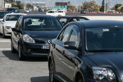 Κίνηση στα διόδια της Ελευσίνας την Παρασκευή 20 Μαρτίου 2020. (EUROKINISSI/ΜΙΧΑΛΗΣ ΚΑΡΑΓΙΑΝΝΗΣ)