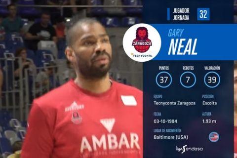 MVP της 32ης αγωνιστικής της ACB o Γκάρι Νιλ