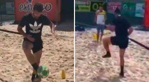 Ο Ντιέγκο Κόστα κάνει προετοιμασία σε γήπεδο… beach volley