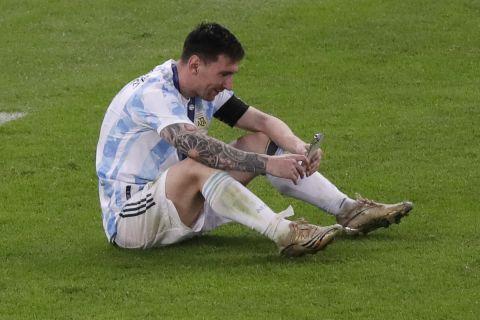 Ο Μέσι έκανε βιντεοκλήση στη γυναίκα του μετά τον τελικό του Copa America 2021