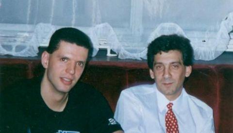 Ο Ντράζεν Πέτροβιτς με τον Βασίλη Σκουντή