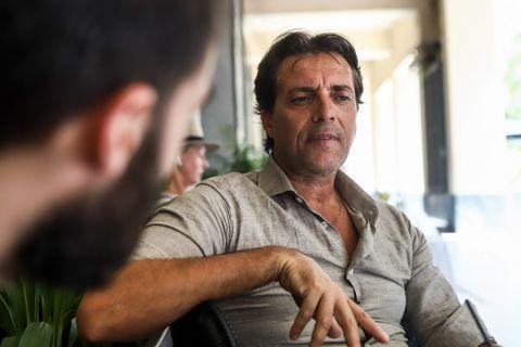 Ο Χάρης Κοπιτσής στη φωτογράφιση για τη συνέντευξή του στο SPORT24