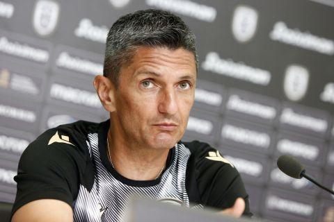 Ο Ραζβάν Λουτσέσκου σε συνέντευξη Τύπου του ΠΑΟΚ πριν από αγώνα του Conference League με την Ριέκα | 24 Αυγούστου 2021