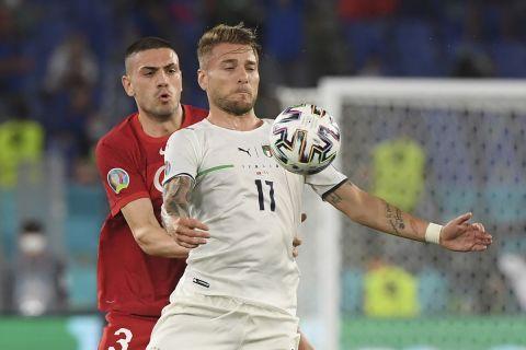 Ο Τσίρο Ιμόμπιλε από τον αγώνα της Ιταλίας με την Τουρκία για το Euro 2020