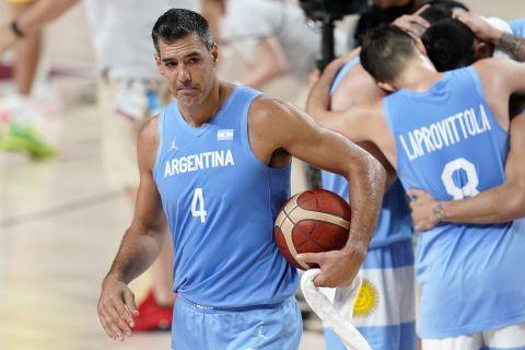 Ο Λούις Σκόλα στο τελευταίο παιχνίδι του με την εθνική Αργεντινής