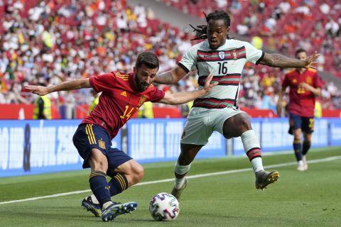 Μονομαχία Γκαγιά - Σάντσες σε φιλική αναμέτρηση της Ισπανίας με την Πορτογαλία ενόψει του Euro 2020 (4 Ιουνίου 2021)
