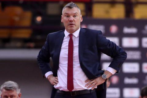 Ο Γιασικεβίτσιους σε στιγμιότυπο από αγώνα της Μπαρτσελόνα στην EuroLeague