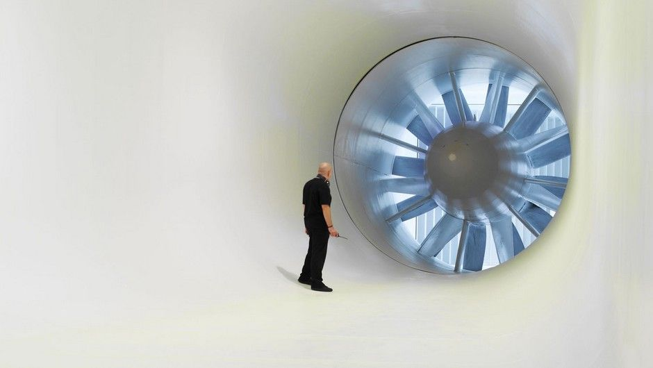 Inside the Wind tunnel at McLaren Technology Centre