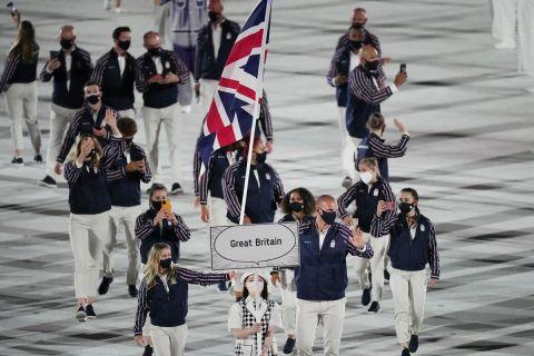Η Μεγάλη Βρετανία στην παρέλαση της τελετής έναρξης