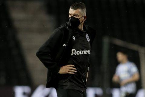 Ο Γκαρσία μετά το τέλος του αγώνα του ΠΑΟΚ με τον Αστέρα Τρίπολης