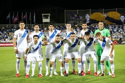Η 11αδα της Εθνικής σε παράταξη για τον αγώνα με το Κόσοβο