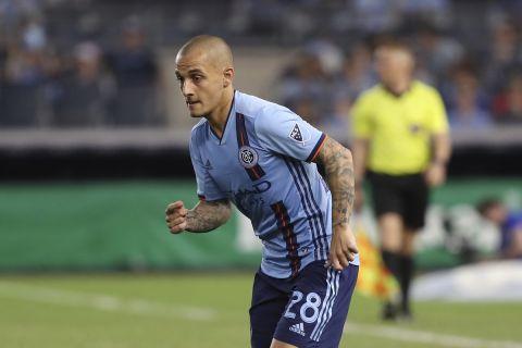 Ο Αλεξάνδρου Μίτριτσα με τη φανέλα της New York City FC σε αναμέτρηση του MLS