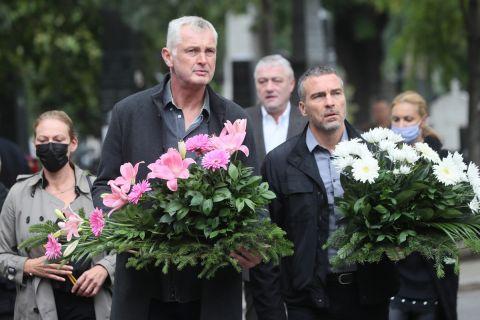 Ο Ζάρκο Πάσπαλι στην κηδεία του Ντούσαν Ίβκοβιτς