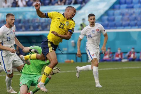 Ο Κουάισον κέρδισε πέναλτι στο ματς της Σουηδίας με την Σλοβακία για το Euro 2020