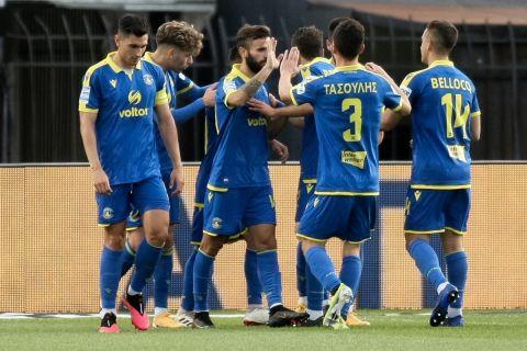 Οι παίκτες του Αστέρα σε αναμέτρηση του ΠΑΟΚ για τη Super League Interwetten.