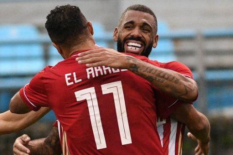 Εμβιλά και Αραμπί πανηγυρίζουν στη Λαμία, μετά το φοβερό γκολ του Γάλλου