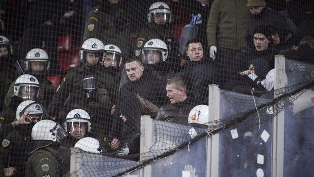 Ένταση με οπαδούς της Ντινάμο και την αστυνομία στο