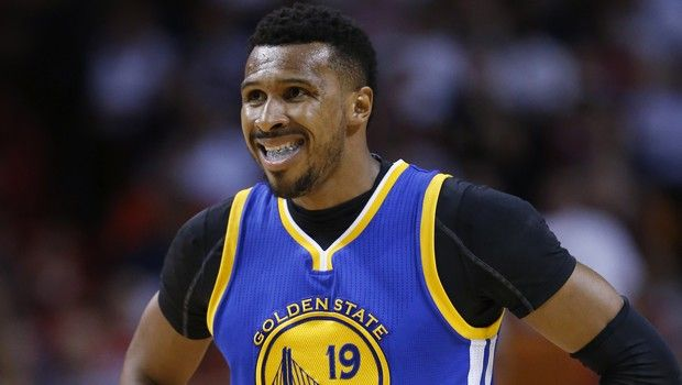 Golden State Warriors guard Leandro Barbosa reacts after a play during the second half of an NBA basketball game against the Miami Heat, Wednesday, Feb. 24, 2016, in Miami. The Warriors defeated the Heat 118-112. (AP Photo/Wilfredo Lee)