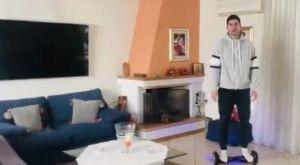 Κορονοϊός: Ο Μωραΐτης σκοράρει πάνω σε hoverboard!