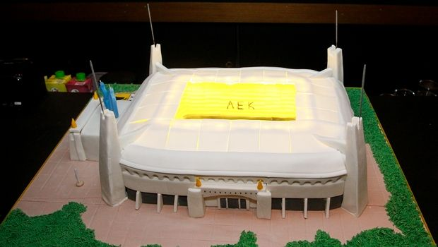 ΑΕΚ: Η εντυπωσιακή τούρτα,