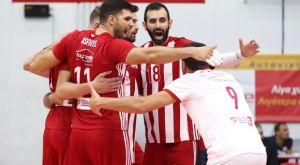 Volley League ανδρών: Έκανε το 4/4 ο Ολυμπιακός