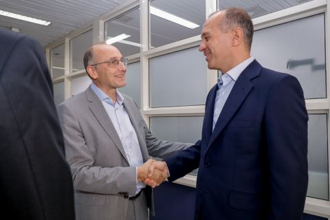 Ο Γιώργος Αγγελόπουλος με τον Βαγγέλη Λιόλιο