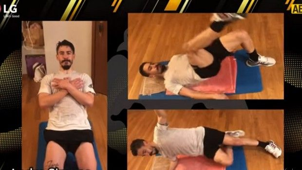 Κορονοϊός: Οι παίκτες της ΑΕΚ δείχνουν ασκήσεις για την καραντίνα