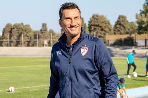 Ο Κώστας Φρατζέσκος από παιχνίδι της ΑΕΛ τη σεζόν 2021-22 | 6 Οκτωβρίου 2021