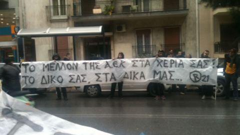 Διαμαρτυρία της ORIGINAL στα γραφεία του Κανελλόπουλου!