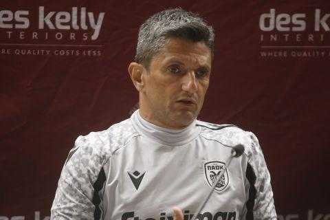Ο Ραζβάν Λουτσέσκου στη διάρκεια της συνέντευξης Τύπου πριν το ματς με τη Μποέμιανς | 2 Αυγούστου 2021