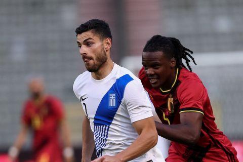 Ο Μασούρας από τη φιλική αναμέτρηση της Ελλάδας με το Βέλγιο /3-6-2021