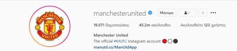 Οι ακόλουθοι της Μάντσεστερ Γιουνάιτεντ στο Instagram μετά τη μεταγραφή του Κριστιάνο Ρονάλντο