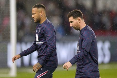 Ο Λιονέλ Μέσι σε προθέρμανση πριν από τον αγώνα της Παρί με την Λιόν για την Ligue 1 | 19 Σεπτεμβρίου 2021