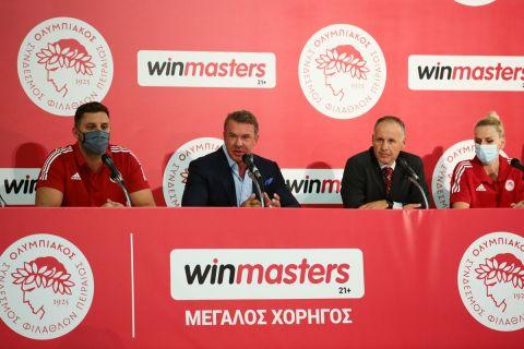 Στιγμιότυπο από τη Media Day του Ερασιτέχνη Ολυμπιακού