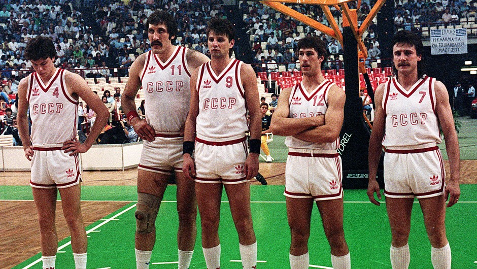 Η αρχική πεντάδα της Σοβιετικής Ένωσης στο EuroBasket 1987