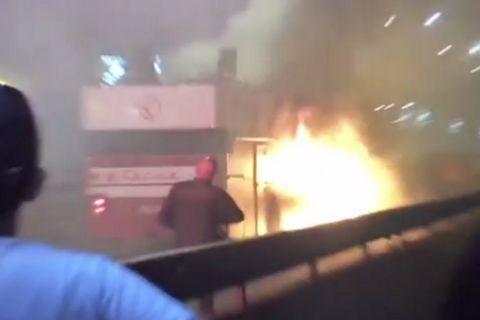Παίκτης του Ερυθρού Αστέρα έβαλε κατά λάθος φωτιά στο πούλμαν της ομάδας!