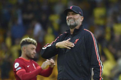 Ο Γιούργκεν Κλοπ στο ματς της Λίβερπουλ κόντρα στην Νόριτς για την Premier League | 14 Αυγούστου 2021