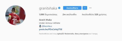 Η βεντέτα συνεχίζεται: Ο Τζάκα έπαψε να είναι αρχηγός της Άρσεναλ στο Instagram