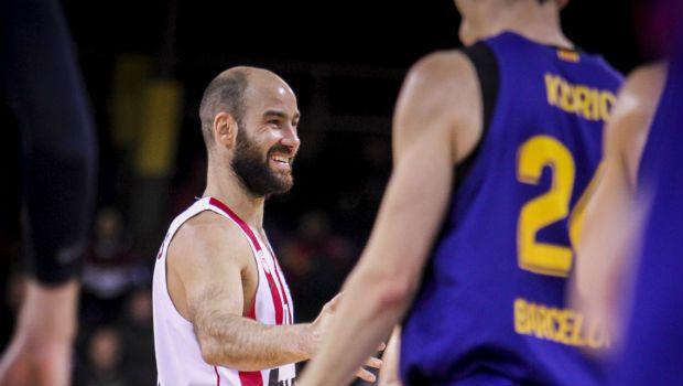 Μπαρτσελόνα - Ολυμπιακός: H ομάδα μπάσκετ στο κορεό του