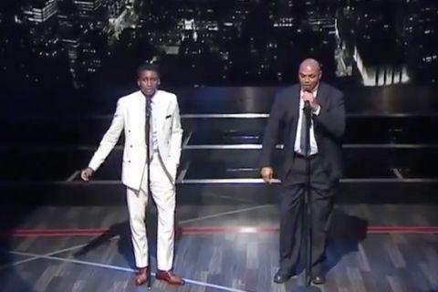 """Ο Barkley και ο Oladipo τραγουδούν """"New York, New York""""!"""