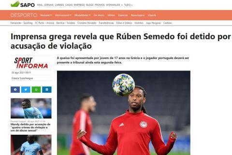 Υπόθεση Σεμέδο: Πρώτο θέμα στα ΜΜΕ της Πορτογαλίας η σύλληψή του μετά την καταγγελία 17χρονης για βιασμό