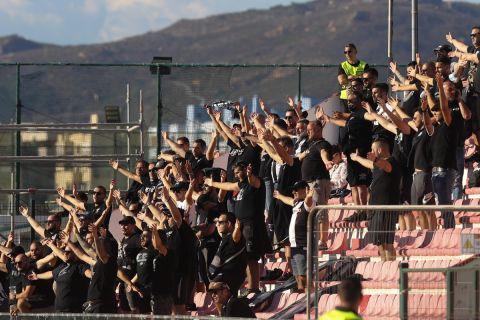 Οι οπαδοί του ΠΑΟΚ στο γήπεδο της Λίνκολν | 16 Σεπτεμβρίου 2021