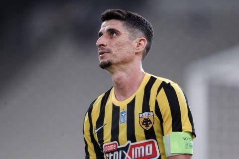 Ο Πέτρος Μάνταλος ήταν ο σκόρερ της ΑΕΚ στο ματς με τη Βέλεζ, χωρίς αυτό το γκολ να αρκεί για την πρόκριση